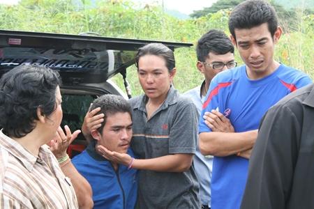 Family members are in shock over Prasert Khaengkhan's death.