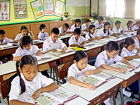 Children participate in Pattaya's youth literacy program, which has been showing improvements each year since its inception.