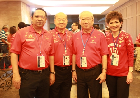 CMA 5 members from left; Tarit Pengdith, Director-General of DSI; Sompol Kiatpaiboon, Stock Exchange of Thailand Chairman; Vorathep Wongsasuthikul, Chief Executive Officer of Thai Rubber Latex Corporation (Thailand) Plc.; and Panida Thepkarnchana, Managing Director of the Erawan Group Plc.