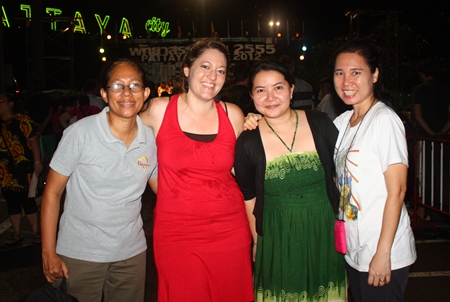 Pattaya's Christian Club committee, organizers of Pattaya Praise 2012, smile after a successful event.