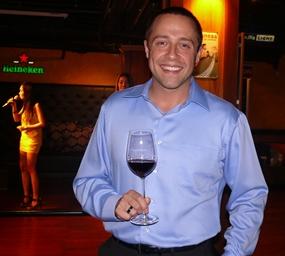 Regional sales manager Ryan Stewart spoke of the history of the vineyards.