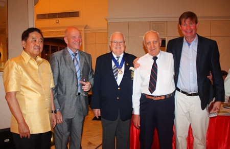 Old friends meet, Sen. Sutham, Bill, Brendan, Dennis and Jan Olav.