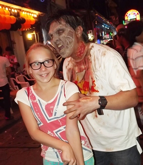 Look out young woman, zombies are loose on Walking Street!