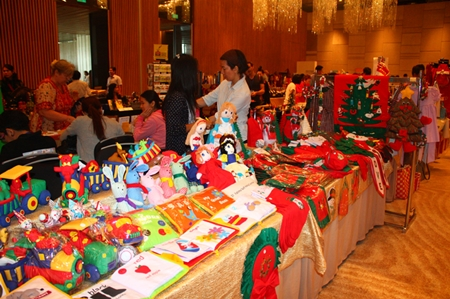 The Christmas Bazaar, which signals the opening of the Christmas shopping season here in Pattaya, features 80 vendors from all over Thailand.