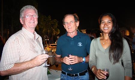 (L to R) Gerard Porcon, Patrick Devereux and Manita Porcon.