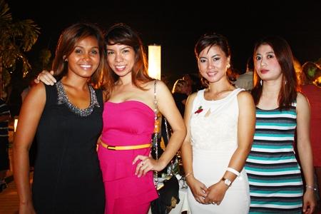 (L to R) Natthaporn Changtor, Nitjaree Jaemsawang, Chanapa Strachan and Gibgae Nitiprasertwit.
