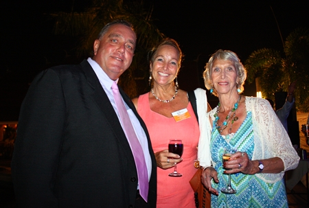 (L to R) Kevin Fisher, Managing Director of CEA, with Rosanne and Patty Diamente.