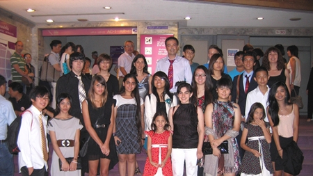 The students and teachers from GIS who went to see 'Tango Legends'.