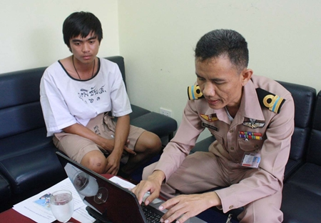Seaman Wuthichai Suebsunthorn, willing to pay to get out of military service, fell for a common scam.
