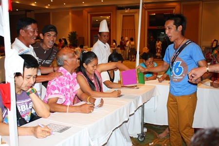 Employees play a wild and crazy game of bingo to raise money for the Dusit Smile project & Operation Smile Thailand.