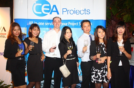 (L to R) Nisaluck Thamaphat, Assistant Manager, Sales, Amari Orchid Pattaya; Sirikorn Chingduang, Assistant Manager, Sales, Amari Orchid Pattaya; David Roberts, General Manager, Nova Platinum Hotel; Dueanpen Thongsombat, Assistant Director of Sales, Amari Orchid Pattaya; Kamolphop Suksamarn, Assistant Manager, Sales, Nova Platinum Hotel; Pacharin Machima, Assistant Sales Manager and Weeraya Sakolchai, Manager, Sales, Amari Orchid Pattaya.