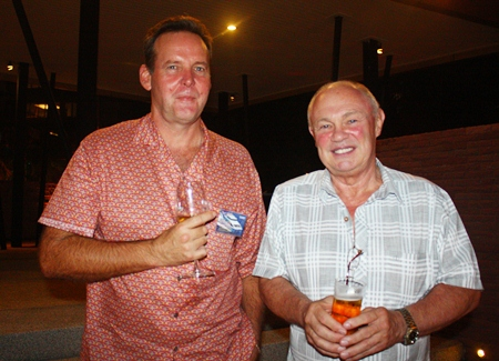 Paul Birgan, Gold Coast Ships Ltd. networks with Peter Banner, The Happy Auctioneer.
