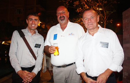 (L to R) Paul Fox, Sales & Marketing Manager for Urbaan Real Estate; Scott Finsten, Harbour Master at Ocean Marina Yacht Club; and David Lawrence, General Manager of Urbaan Real Estate.