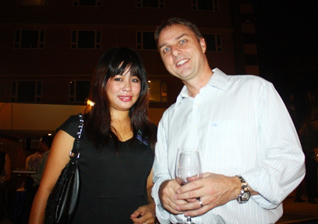 Supaporn (Hannah) Nontanam, sales rep for Star Residence discusses ways to make her sales pitch sound as good as possible with Russell Jay Darrell, Managing Director of Soundzgood Co., Ltd.