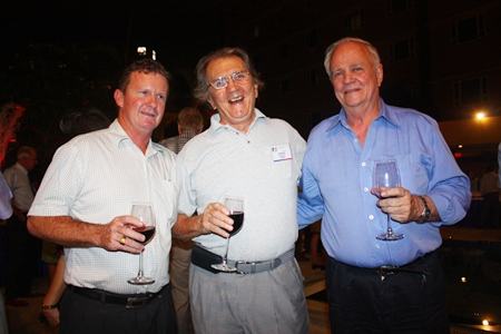 Three jolly networkers (L to R) Greg Hoole, General Manager/Director Precision Springs; George T. Strampp, AMS Managing Director; and Ron Kosinski, Engineering Technology Advisor for Unity Powertrain Co., Ltd.