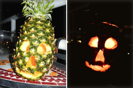 Jerry overcame this in fine Thai style with his 'Sapparot - O - Lantern'.
