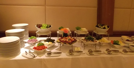 The Centara put out a wonderful buffet lunch for the ladies.