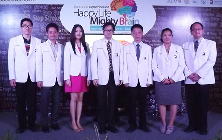 The Neuroscience team of doctors from Bangkok Hospital Pattaya poses for a group photo during the hospital's recent health fair.