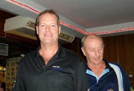 Sunday's winner Roger Cross (left) with Colin Davis.