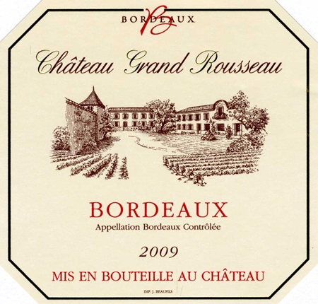 Château Grand Rousseau label