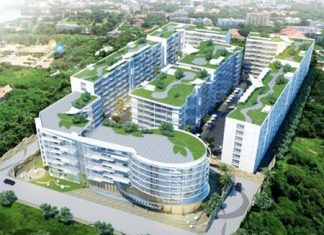 An artist's impression of the Golden Tulip Hotel and Residence Pattaya project.