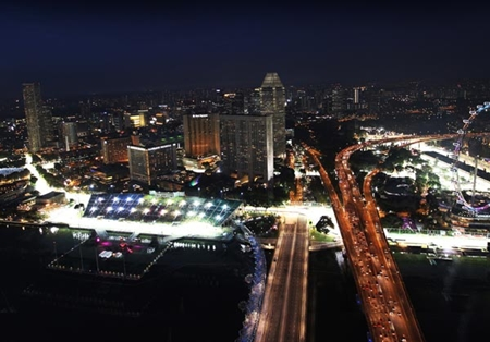 Singapore F1 at night.