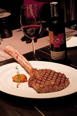 Tomahawk steak at Flare.
