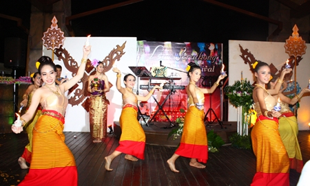 The Loy Krathong celebrations at Centara Grand Mirage Beach Resort Pattaya feature a magical Thai dance.