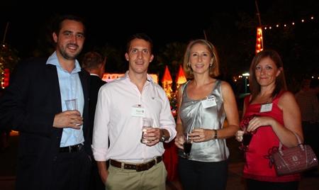 (L to R) Robert Walli, James Harris, Nonie Adamj and Maxine Watkinson from The Regent's School Pattaya.