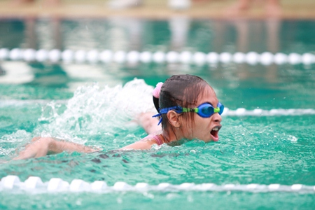 A GIS swimmer on her way to another win.