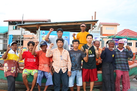 Members of the Naklua Small Fishing Boats group are determined to continue preserving the ecosystem in Naklua Bay.