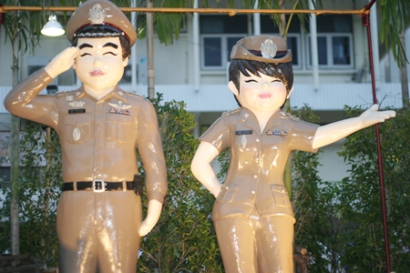 "Regional police unveil their new smiling ""mascots"" to show residents and tourists that ""we are your best friends."""