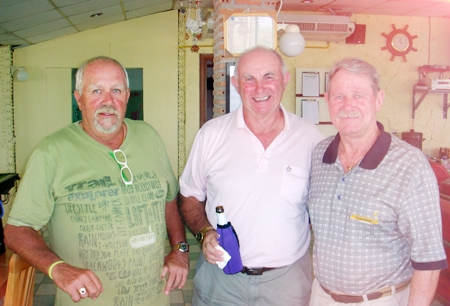 Wednesday winner Greig Ritchie (left) with Friday winner Jeff North (center) and runner up Darl White.