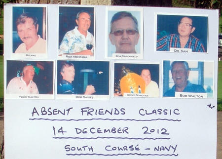 The starter-board displays photos of absent friends.