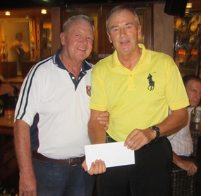 Low Gross champion Kevin McEntee (right) with PSC Golf Chairman Joe Mooneyham.