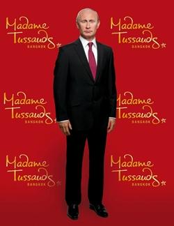 Russian President Vladimir Putin strikes a waxy pose.