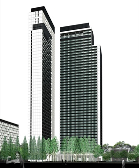 An artist's rendering of the Noble Ploenchit project.