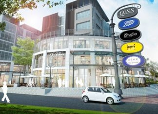 An artist's impression of the completed QiSS shopping mall in Bangkok.
