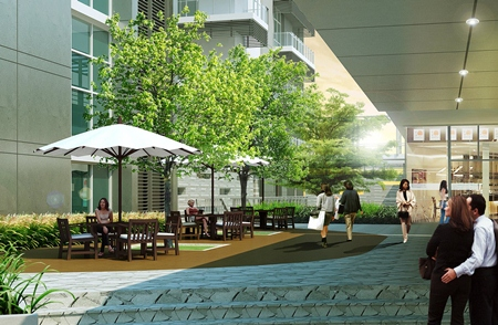 50% of the mall's common areas will be dedicated to gardens and greenery.