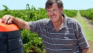 Terry Byrne is in charge of the vineyards.