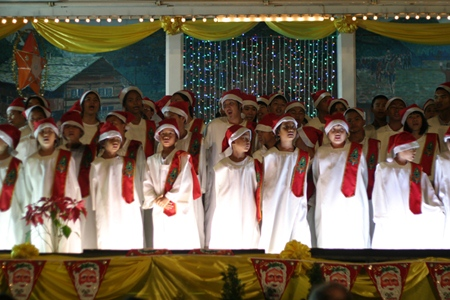Pattaya Orphanage children sing Christmas carols at St. Nicholas Church.