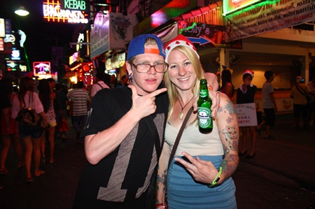 Tourists certainly enjoy themselves celebrating Christmas on Walking Street.