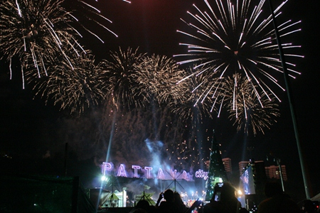 Some of the over 2,000 colorful fireworks lighting the sky to celebrate 2013.