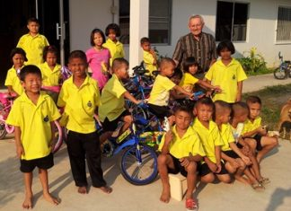 For children who have had very little in their short lives, having a bicycle of their very own is a happy moment for them.