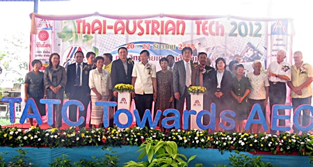 School and government officials launch the 18th Thai-Austrian Tech fair.