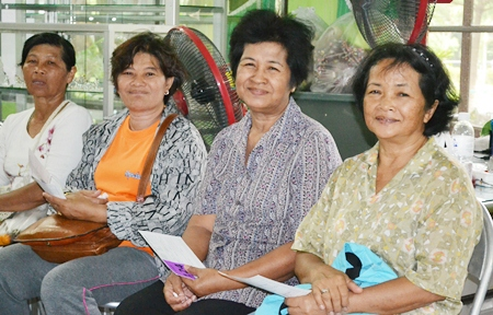 These mature residents of Pattaya wait to see the Ophthalmologist.