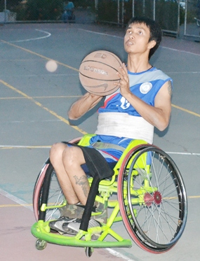 Wheelchair basketball-one of the most popular sports.