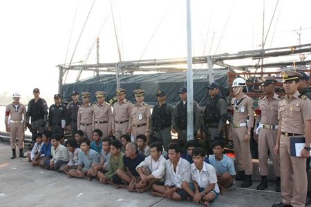 The Royal Thai Navy seized two Vietnamese fishing boats and crew for illegally fishing in the Gulf of Thailand.