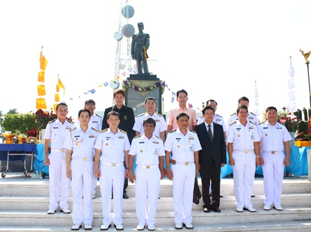 Pattaya officials, Royal Thai Navy officers and residents celebrate the 132nd birthday of HRH Abhakara Kiartivongse, the prince of Chumphon considered the father of the Royal Thai Navy.