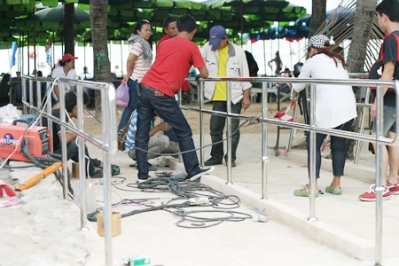 Work is underway in Jomtien to provide the handicap with better access to the beach.